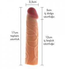 Max man 5 cm dolgulu penis kılıfı
