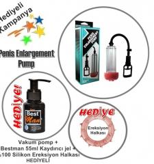 Vakum pompa ereksiyon halkası kayganlaştırıcı jell hediyeli