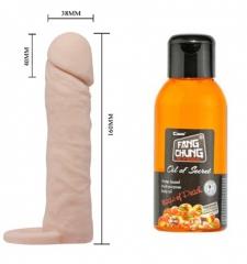 Penis uzatıcı ve büyütücü kılıf şeftali yağ