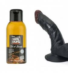 Zenci penis dildo çikolatalı yağ