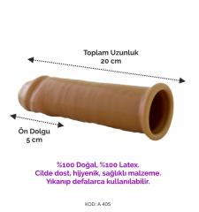Mega dick penis kılıfı, en büyük uzun 20 cm penis kılıfı, dolgulu prezervatif