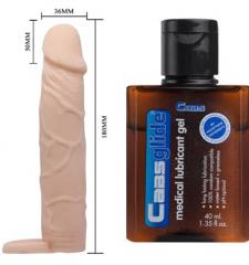 Ucu 5 cm Dolgulu Penis Kılıfı Uzatmalı Prezervatif Kayganlaştırıcı Jell Hediyeli