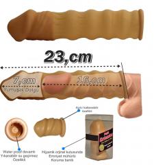 Penis üstüne kılıf penise takılan uzatıcı 7 cm dolgulu kılıf