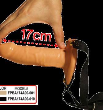16 cm boyunda yumuşak içi boş belden bağlamalı penis